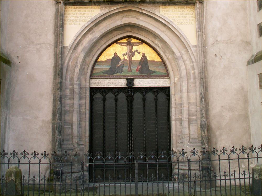 Tesedøren i Slotskirken i Wittenberg