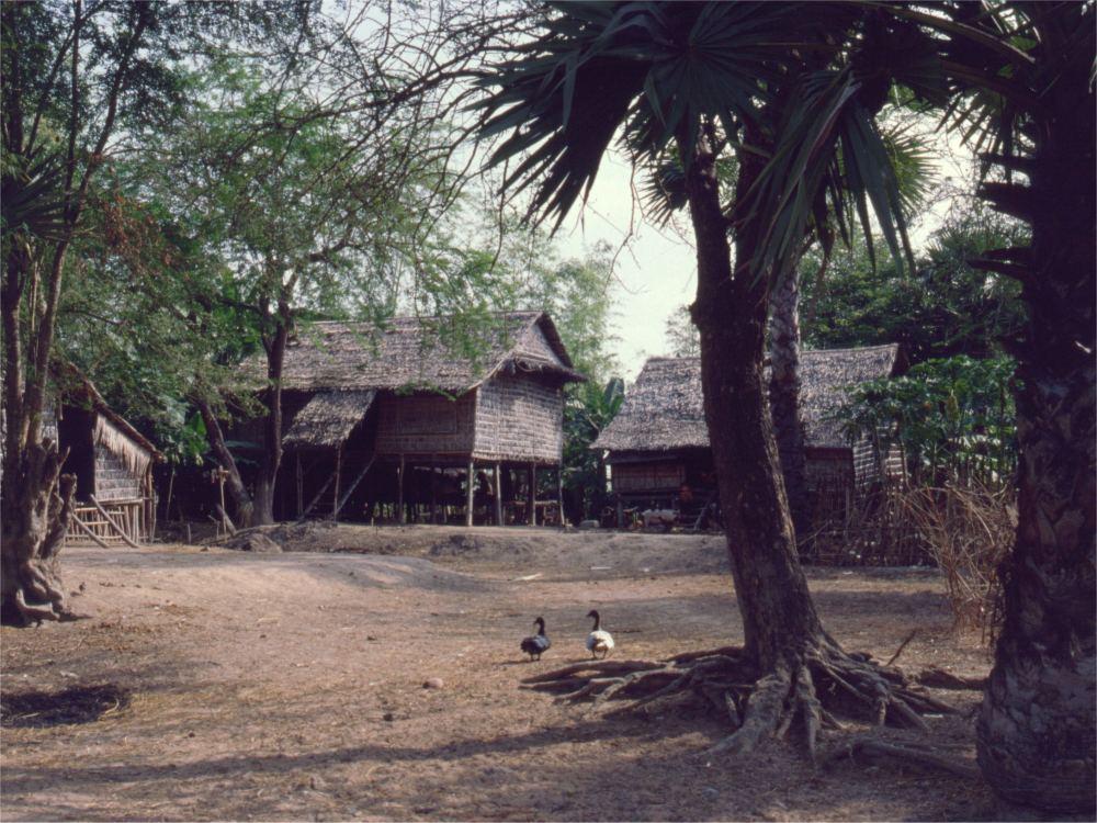 Landsby i Prey Veng provinsen