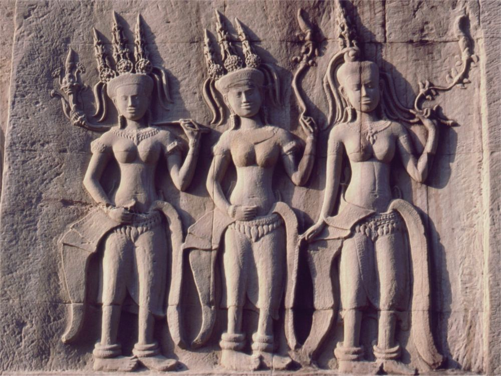 Udsmykning - Apsaraer - i Angkor Wat