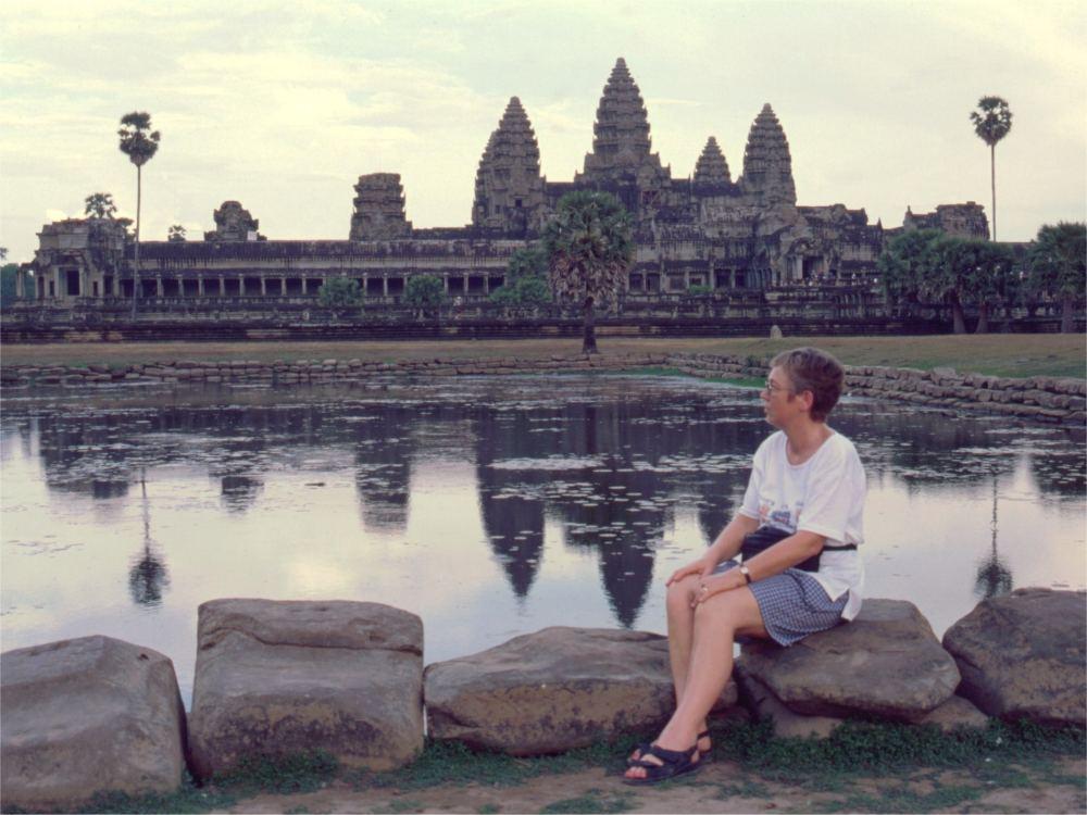 Aase ved Angkor Wat