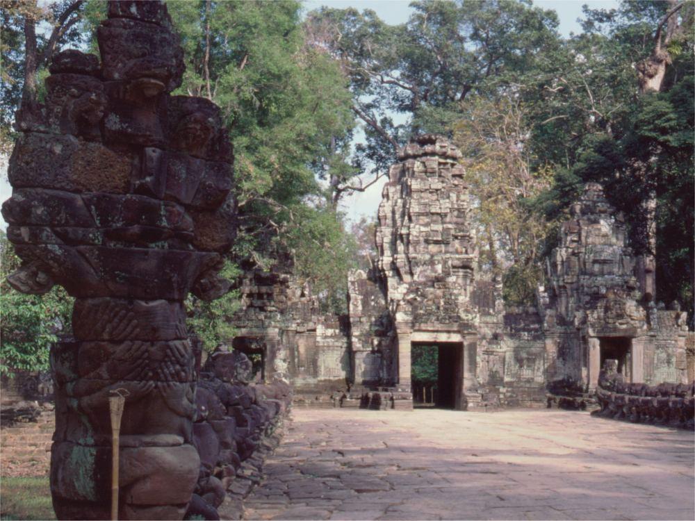 Indgangen til Preah Kahn templet