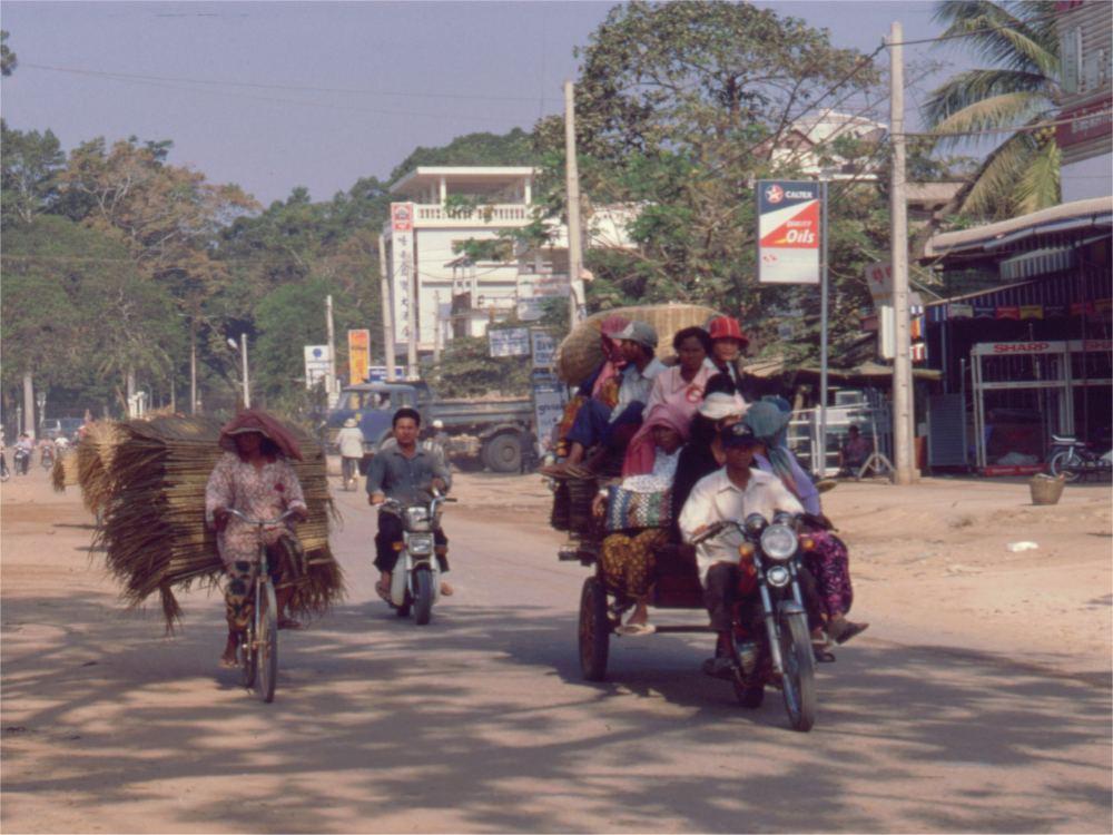 På vej til marked i Siem Reap