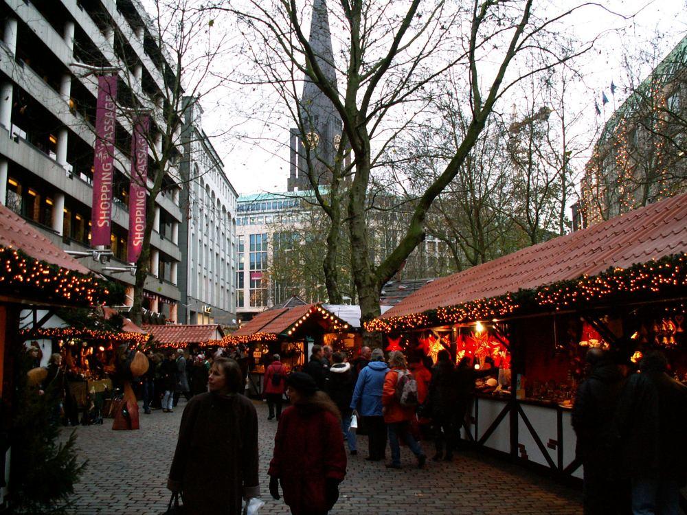 Julemarked på Gerhard-Hauptmann-Platz