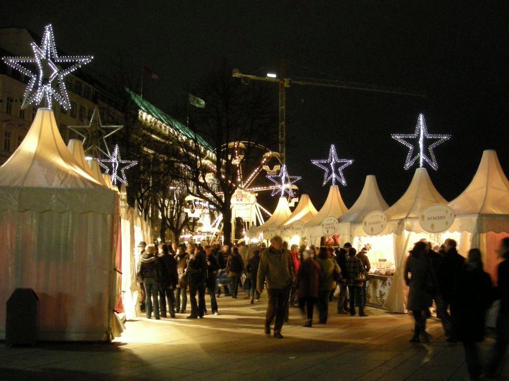 Julemarked på Jungfernstieg