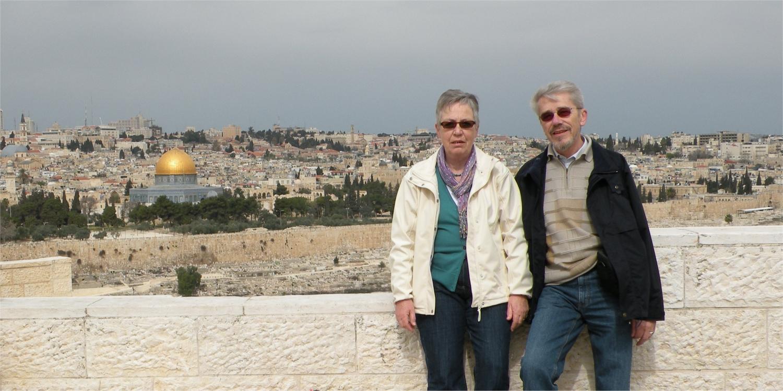 Aase og Thorkild i Jerusalem