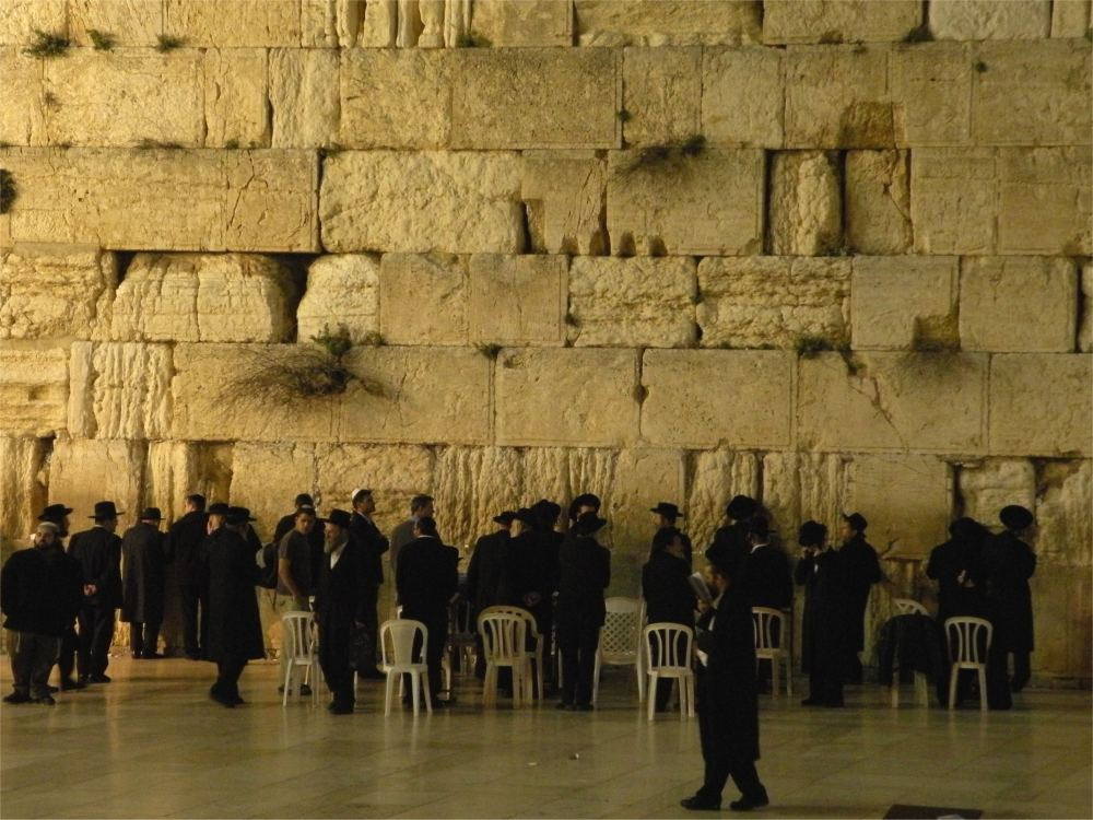 Grædemuren ved aften
