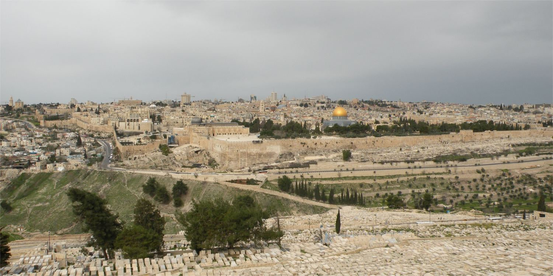 - og et Jerusalem-panorama uden os