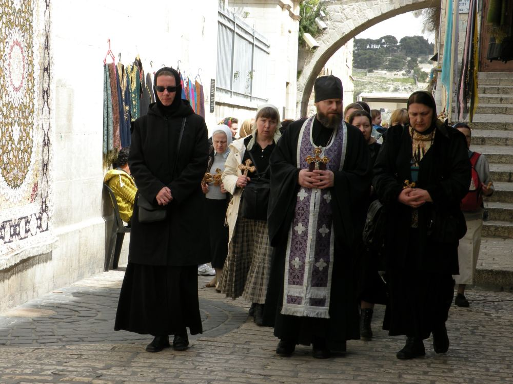 Procession på Via Dolorosa