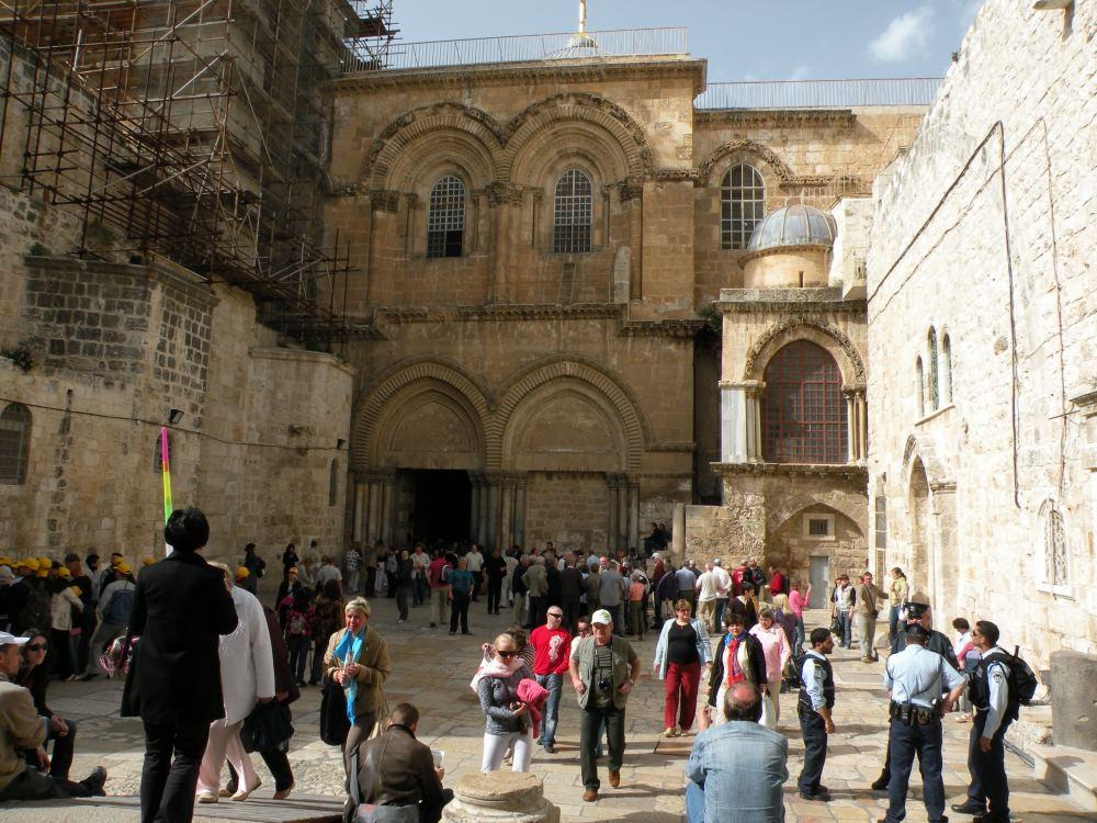 Indgangen til Gravkirken