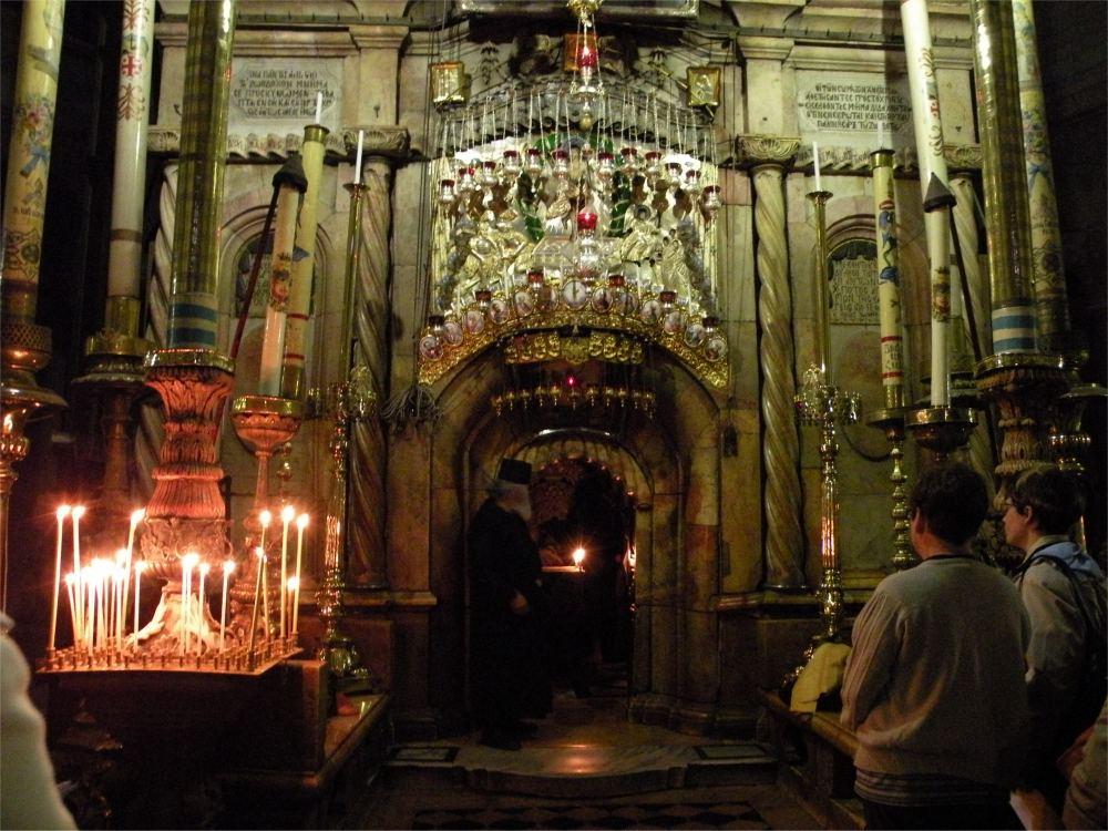 Åbningen ind til Jesu grav i Gravkirken