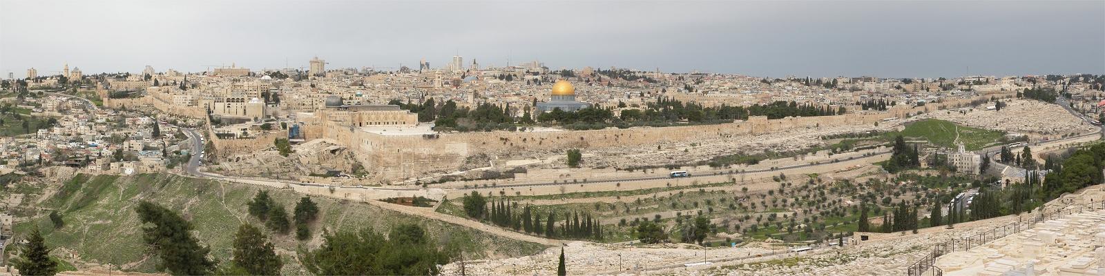 Jerusalem set fra Oliebjerget