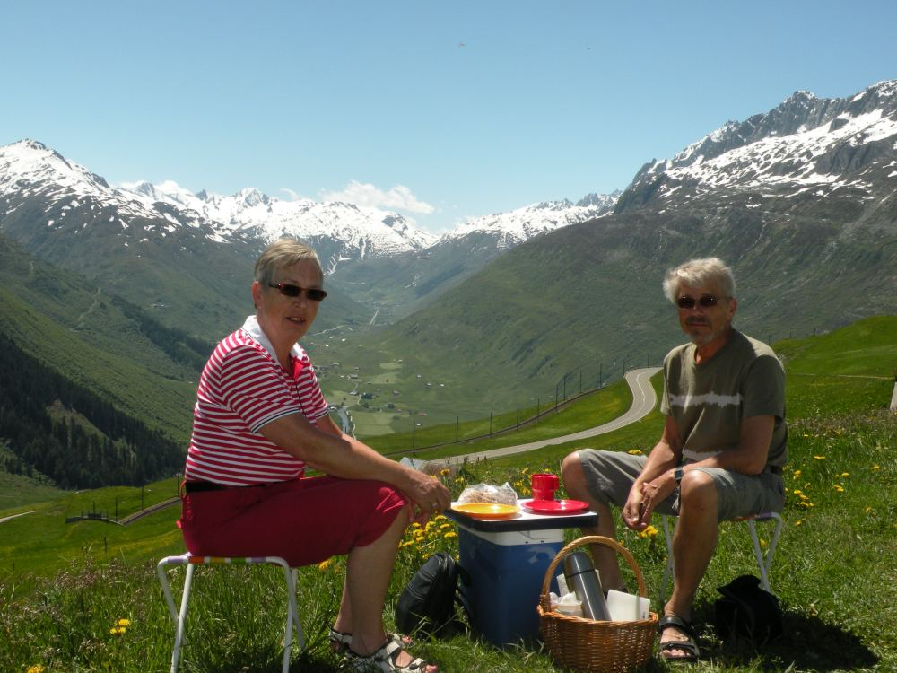 Pause over Oberalppass