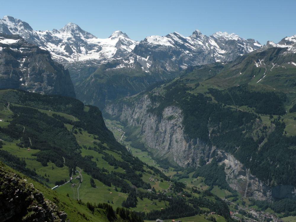 Udsigt mod dalen ved Lauterbrunnen fra Männlichen