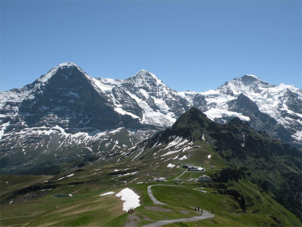Vandrevejen mod Männlichen er på UNESCOS verdensnaturarvsliste. Eiger, Mönch og Jungfrau