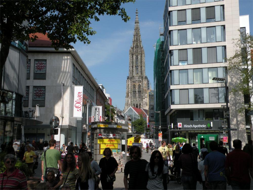 Domkirken i Ulm har verdens højeste kirketårn