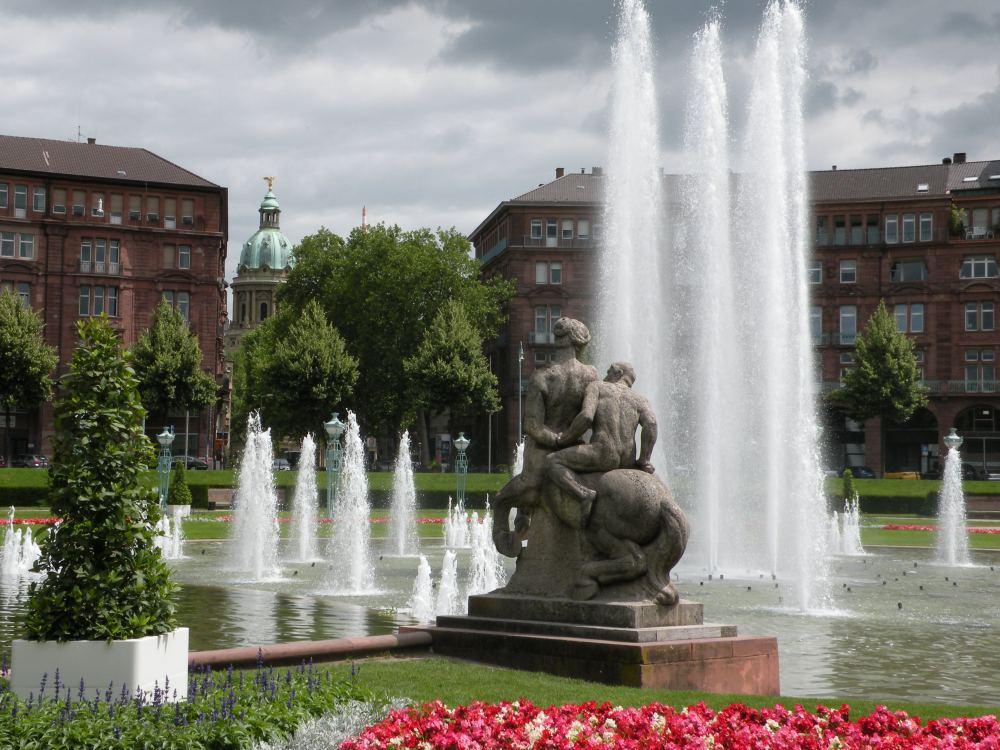 Ved vandtarnet i Mannheim