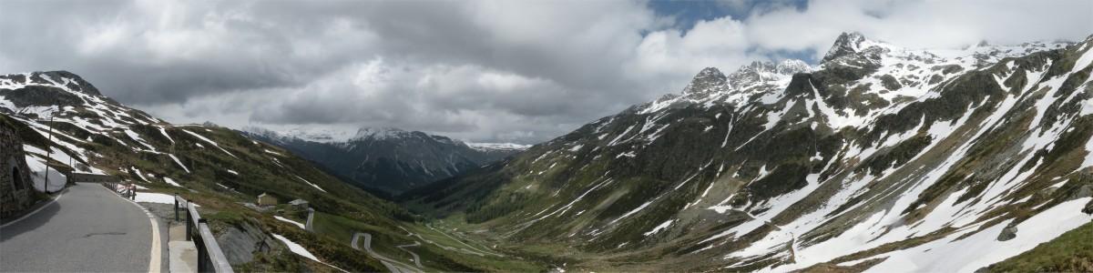 Panorama fra Splügenpass