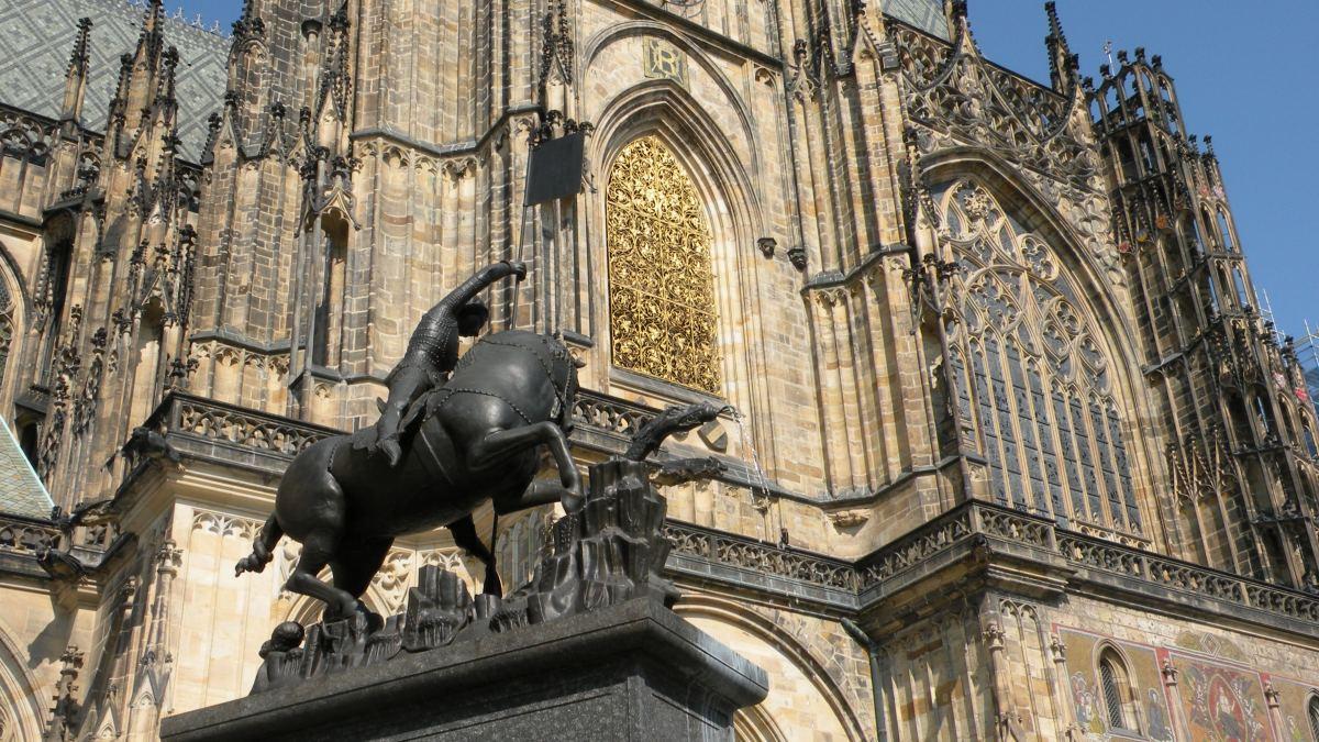 St. Georg og dragen ved Vituskatedralen