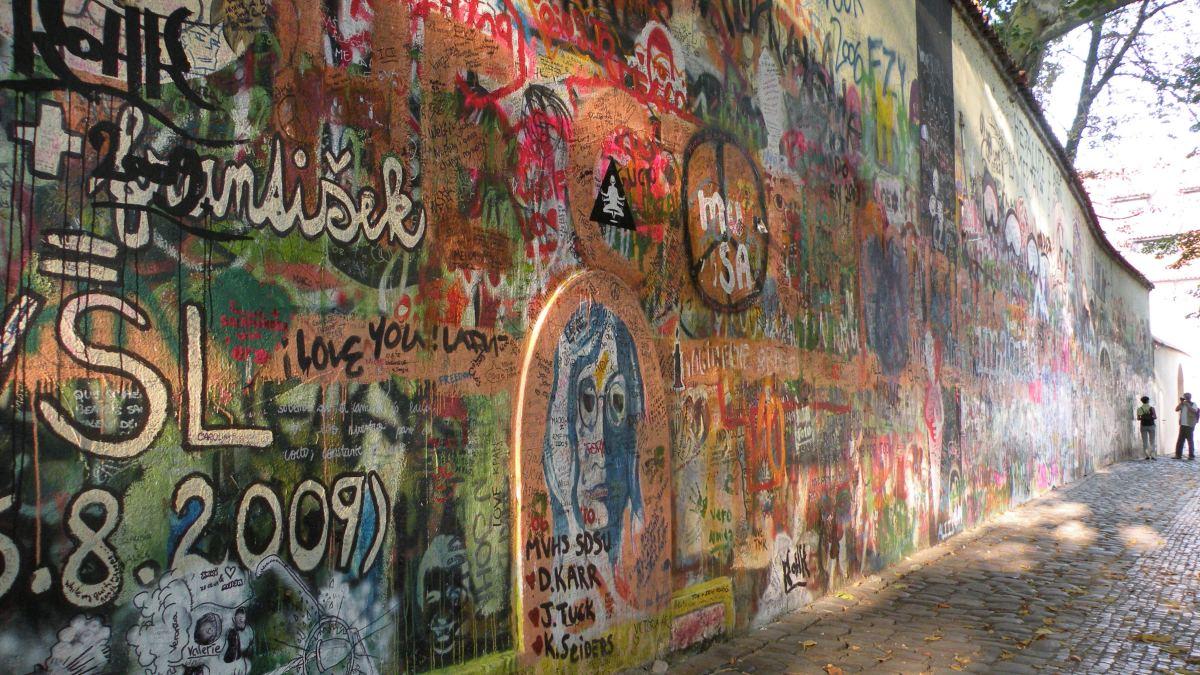 John Lennon Muren på Malá Strana