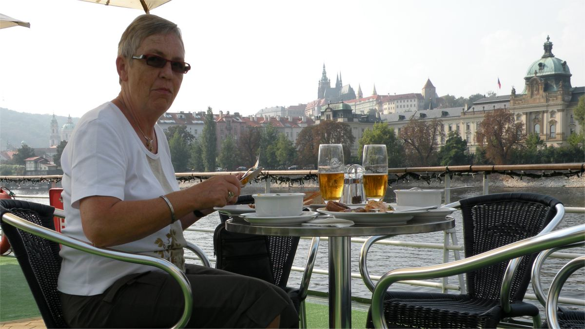 Frokost på båd i Moldau