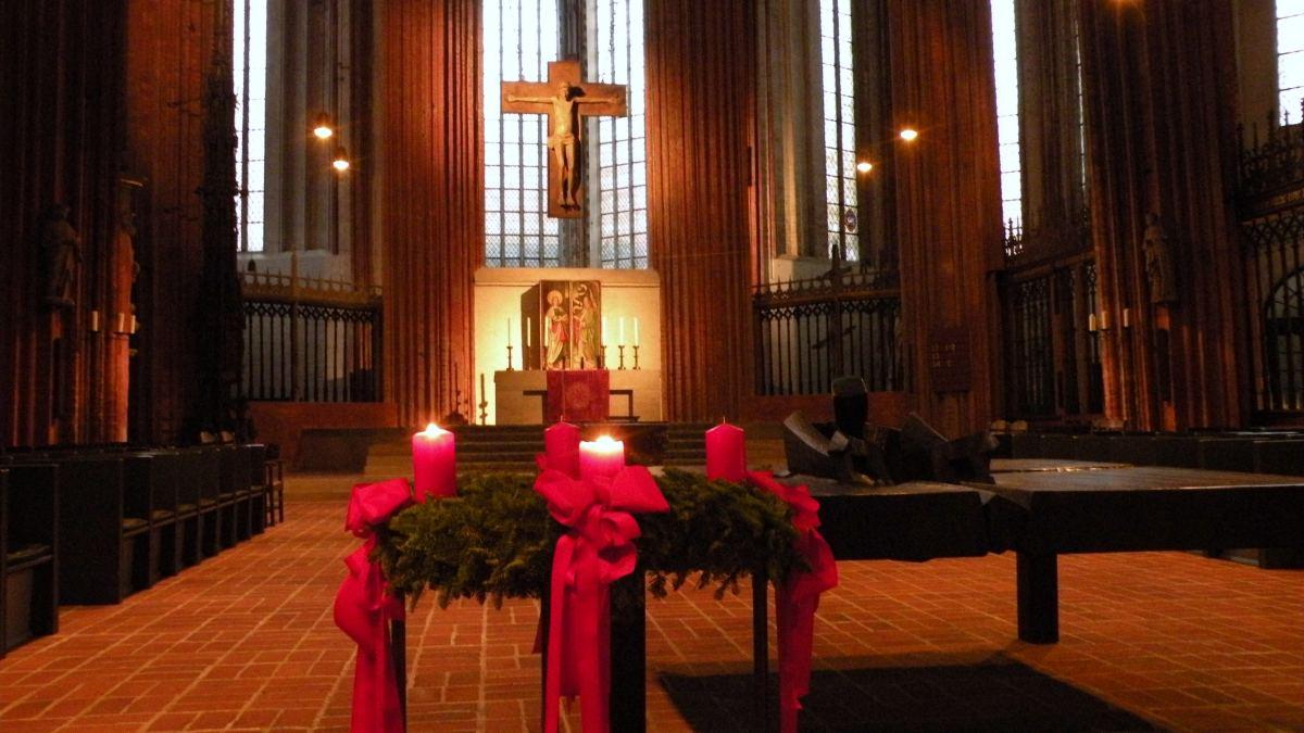 Adventskrans i Mariakirken