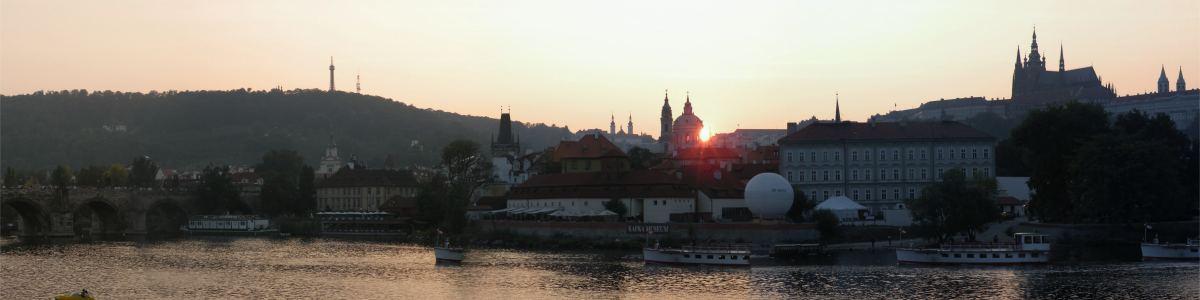 Solnedgang over Mala Strana