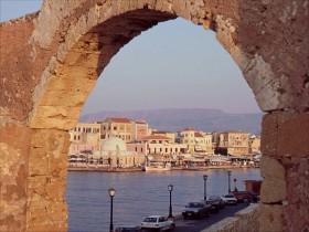 13008 Udsigt fra fortet ved havnen i Chania