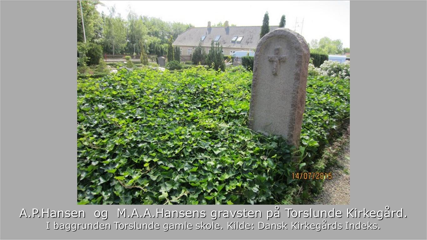 APHansens gravsten fra DKI