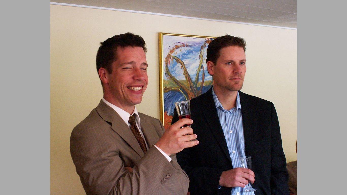 Heine og Lars ved Maja 70 års dag 2006