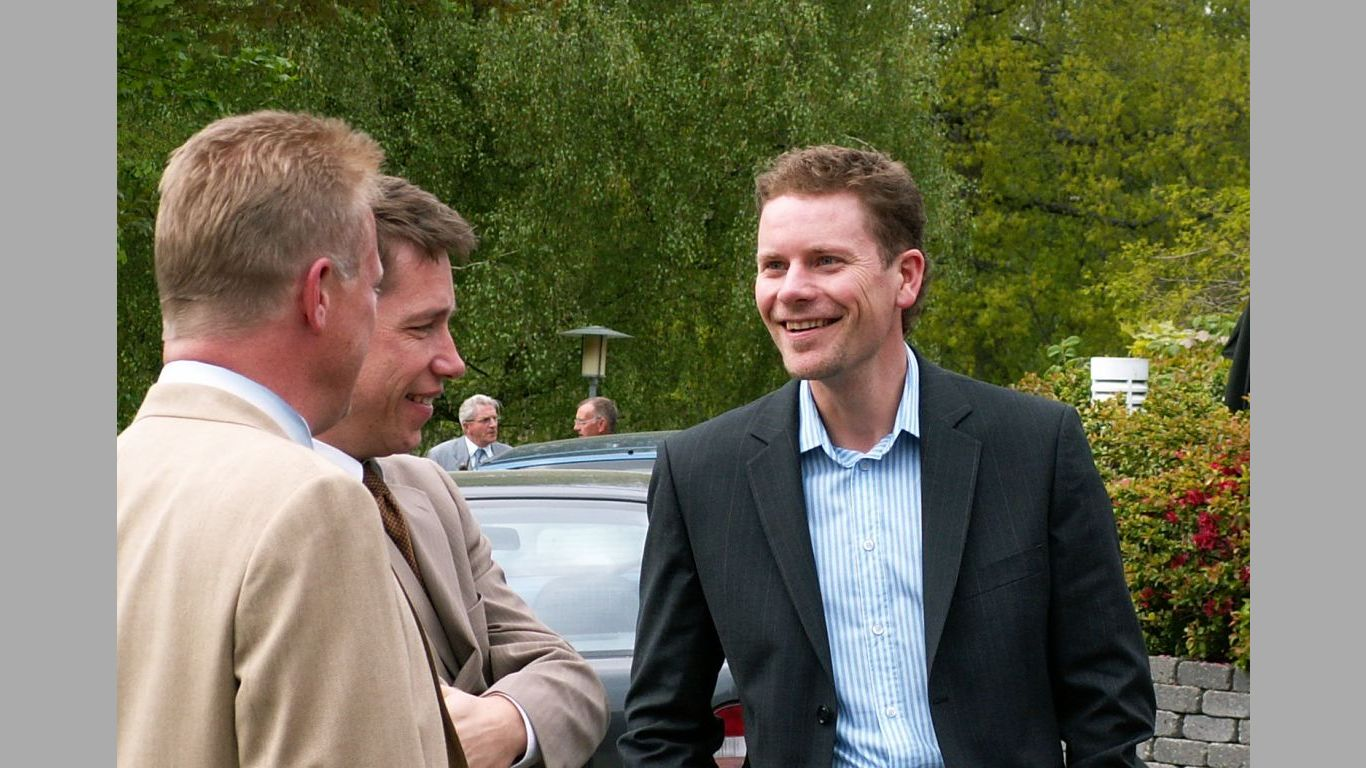 Kent Heine og Lars ved Maja 70 aars dag 2006