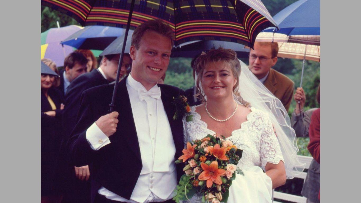 Kent og Gittes bryllup 1997