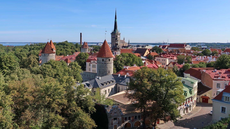 Udsigt fra Domhøjen i Tallin