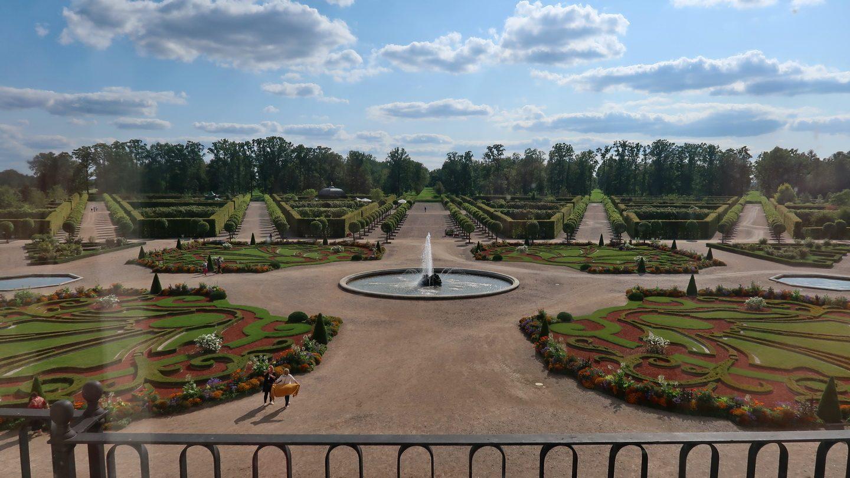 Parken ved Rundale Paladset