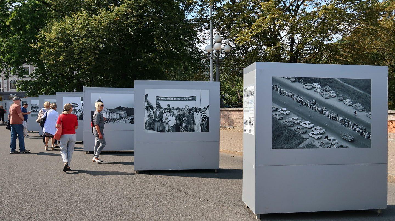 30 års dagen for menneskekæden fra Vilnius til Tallin var også markeret med en udstilling