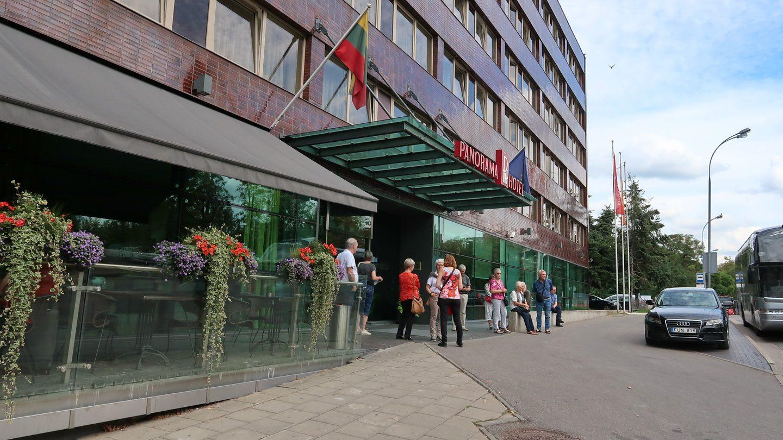 Foran hotellet i Vilnius