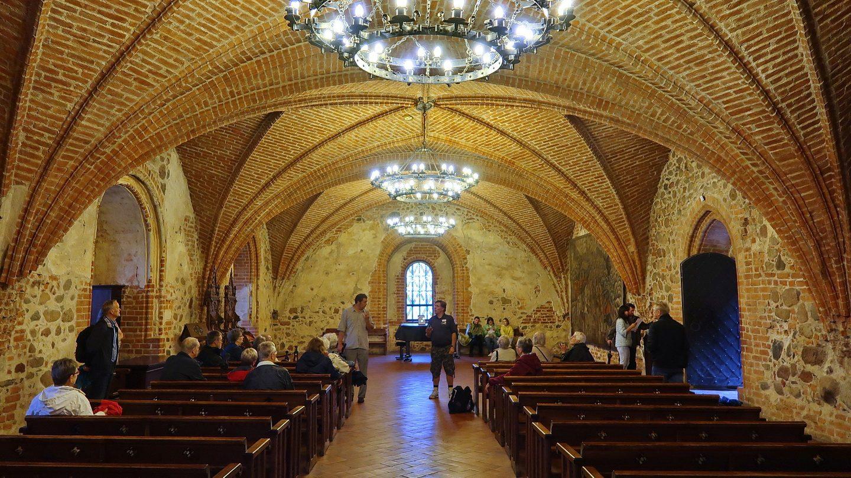 I tronsalen på borgen Trakai vest for Vilnius