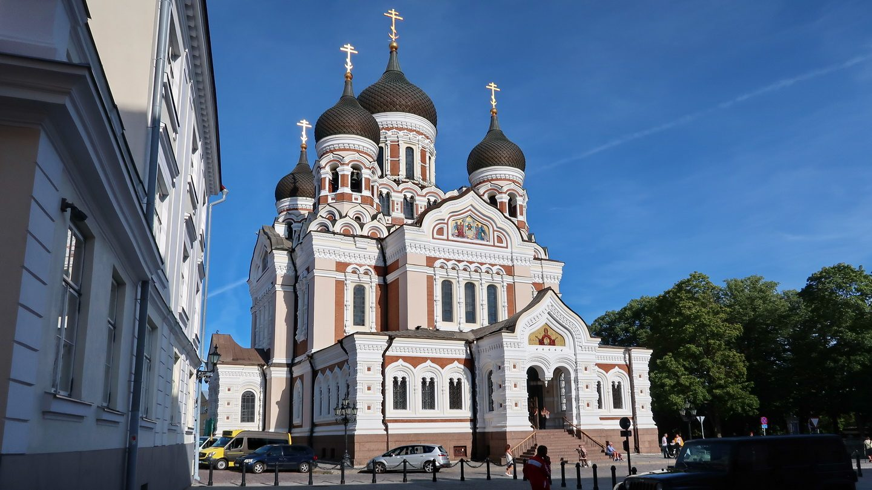 Alexander Nevsky-katedralen i Tallinn set fra vest