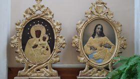 """""""Gudsmoder vejviser-ikon"""" og Jesu-hjertefremstilling i Kasimirkirken Vilnius"""