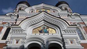 Mosaik af Alexander Nevsky på katedralen.