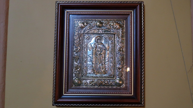 Ikon med den hellige Parascheva af Baklan.
