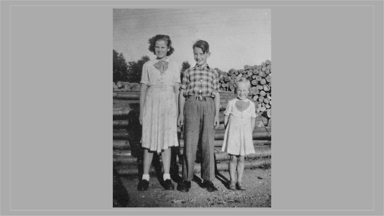 Maja, Verner og Aase ca. 1951.