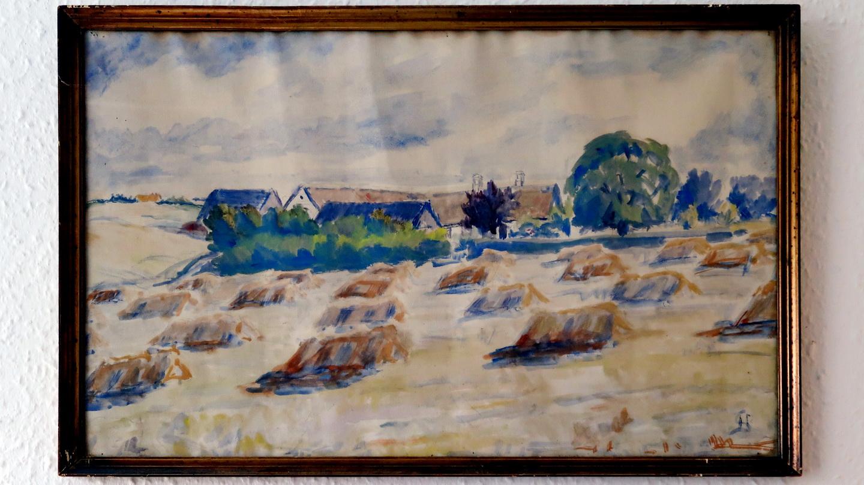 Dalgården i Grauballe - en akvarel af Jens Peder Sørensen