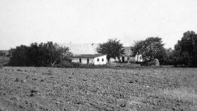 Dalgården i 1959 fra sydøst et par år efter at vi var flyttet.