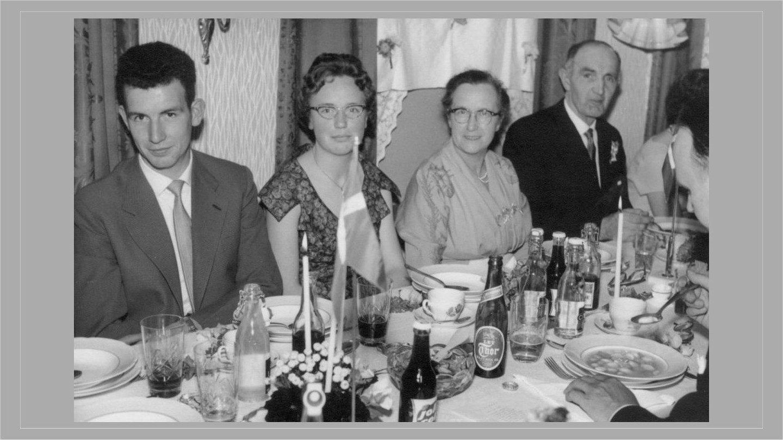 Mary og Anthon Jensens sølvbryllup 1960