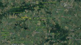 Luftfoto 2005 fra Google Earth over Grauballeområdet.