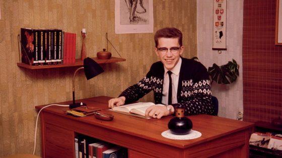 Thorkild på værelset på Langelinie 1966