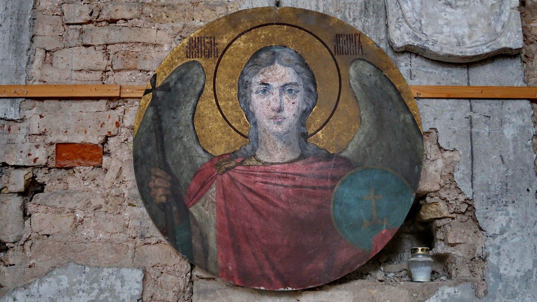 Et ikonskjold med ærkeenglen Michael