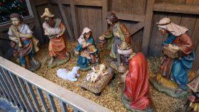 Julekrybbe på torvet i Lübeck