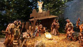 Julekrybbe i Mariakirken i Lübeck