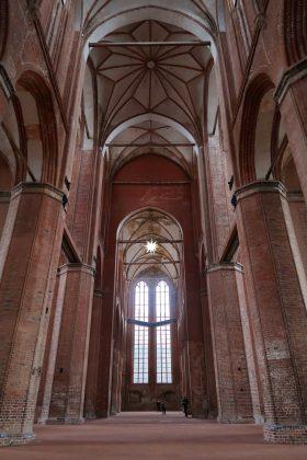 Georgenkirke i Wismar har 34 m høje hvælvinger